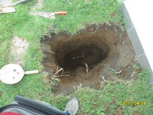 csőrepedés javítás fél négyzetméteren